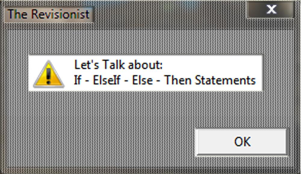 3. VbScript | If - ElseIf - Else -Then Statements