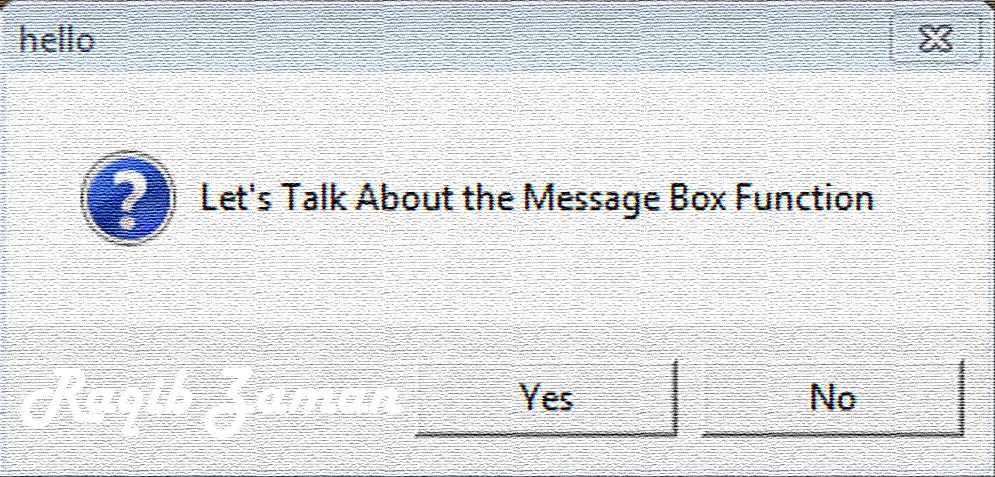 1. VbScript | Message Box