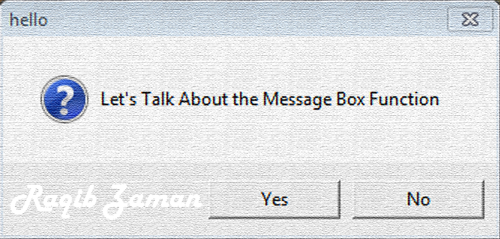 1. VbScript | Message Box