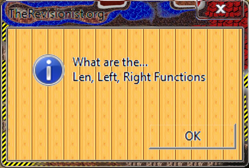 9. VbScript | Len, Left, Right Functions