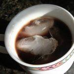 cup full of moka pot coffee with ice