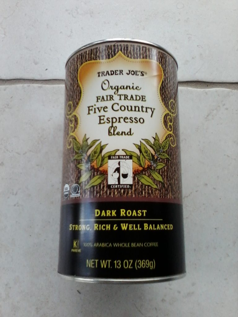 Trader Joe's Organic Fair Trade Five Country Espresso Blend