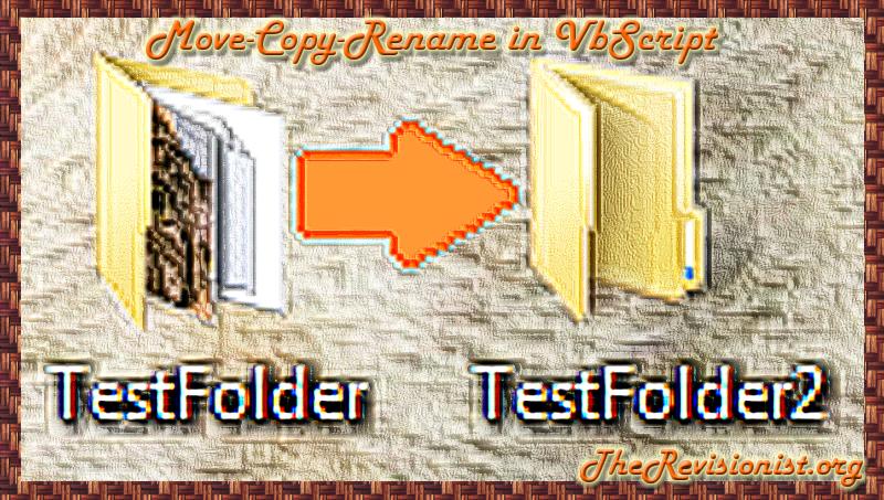 15. VbScript | Copy, Move, Rename Files & Folder