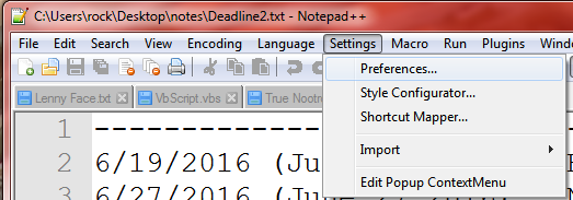 3_Notepad++ Preferences