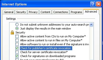 4_ALM Advance Internet Options
