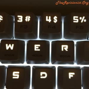 68 Keys Mini Magicforce mechanical keyboard in the dark glowing LED Keycaps