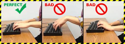 Typing Posture