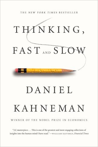 The New York Times Bestseller thinking, fast and slow, by Daniel Kahneman