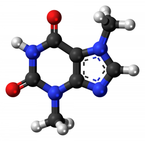 theobromine molecular model