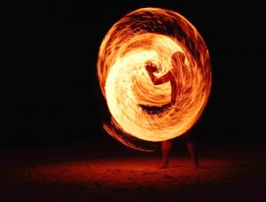 man spinning ball of fire photo cool dark darkness background bright fire