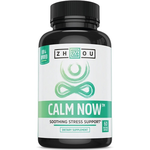 Zhou dietary supplement calm now soothign stress support