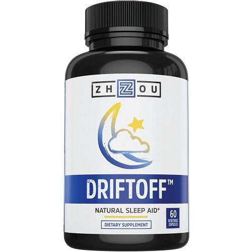 Zhou dietary supplement driftoff natural sleep aid