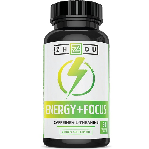 Zhou dietary supplement energy and focus caffeine and L-Theanine combo