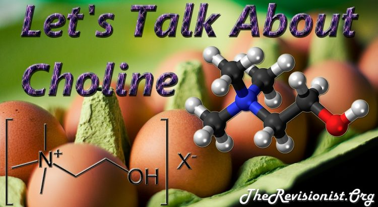 featured image showing eggs choline source and choline molecular model and title is Let's talk about choline