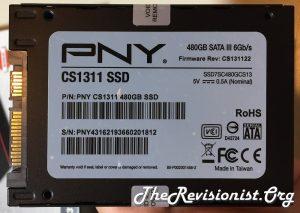 PNY CS1311 SSD backside