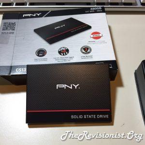 PNY CS1311 SSD on empty box