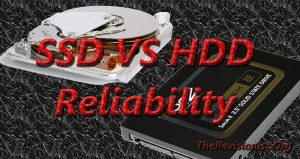 featured image with title SSD vs HDD reliability