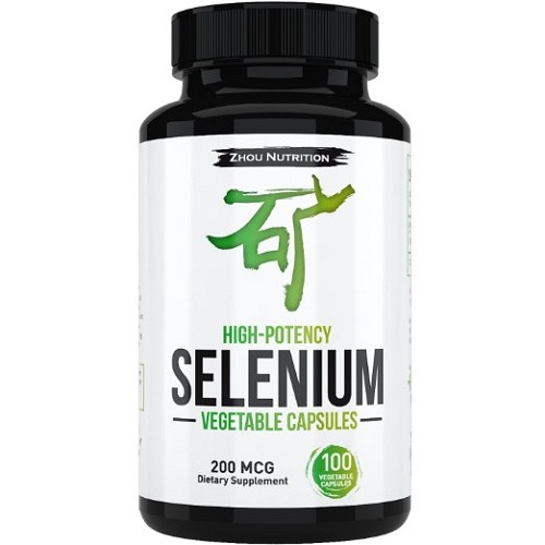 Zhou nutrition dietary supplement high potency selenium vegetable capsules