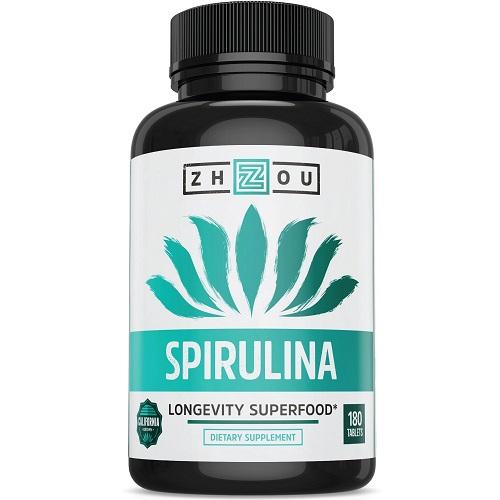 Zhou dietary supplement spirulina longevity superfood