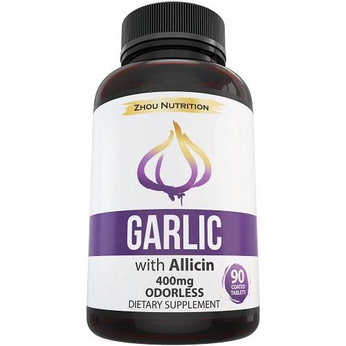 Zhou dietary supplement garlic with allicin odorless