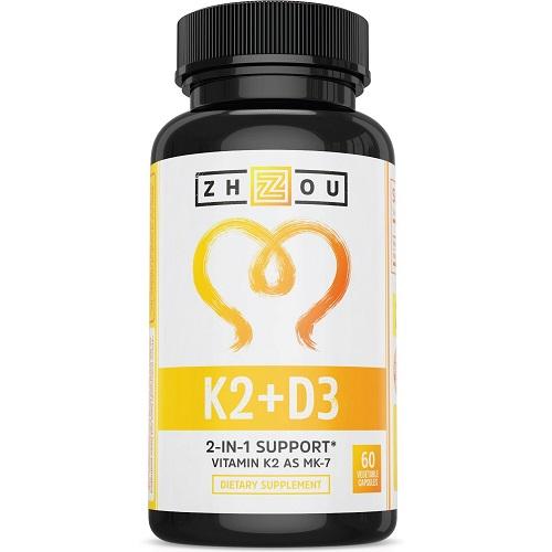 Zhou dietary supplement K2 and D3 vitamins
