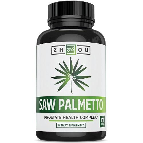 Zhou dietary supplement saw palmetto prostate health complex