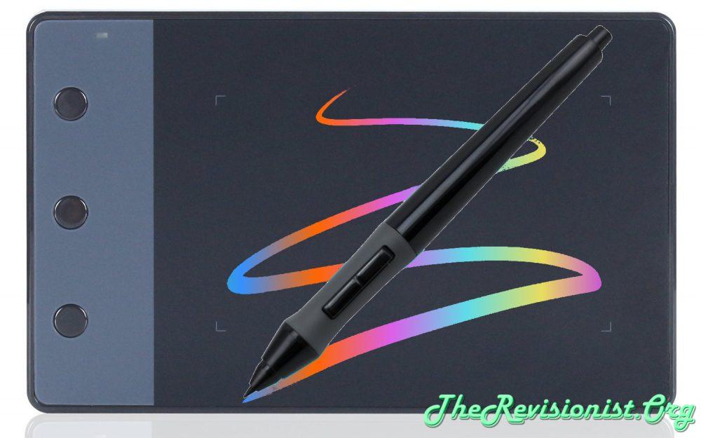 H420 pen tablet with pressure sensitive pen color rainbow streak