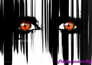 scary eyes black paint streak down drip drop