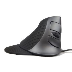 black silvery grey ergonomic vertical mouse J-Tech Digital USB