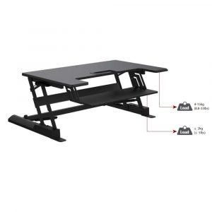 desk riser image showing load capacity