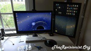 1 center 1 right side monitor battlestation