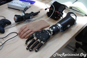 robotic fingers hand forearem prosthetic