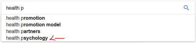 google search box keyword research health p
