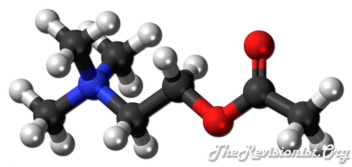acetylcholine 3D chemical model