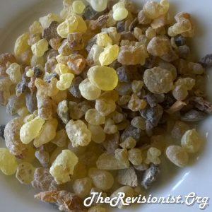 Boswellia Carterii Resin on a Dish