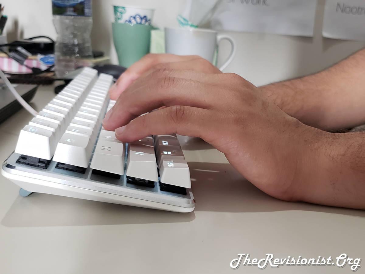 Positive Keyboard Tilt with Feet up