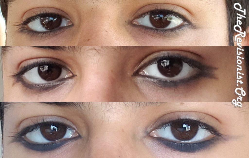 Ithmid Khol on eye waterline under & over eyelashes
