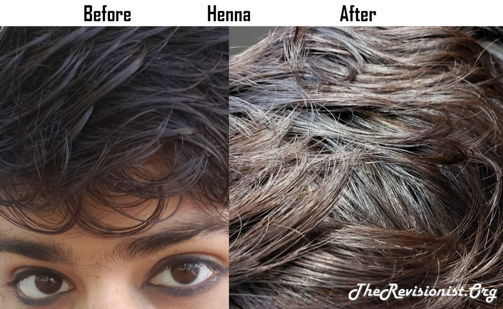 Brown Hair Vs With Henna Golden Highlights