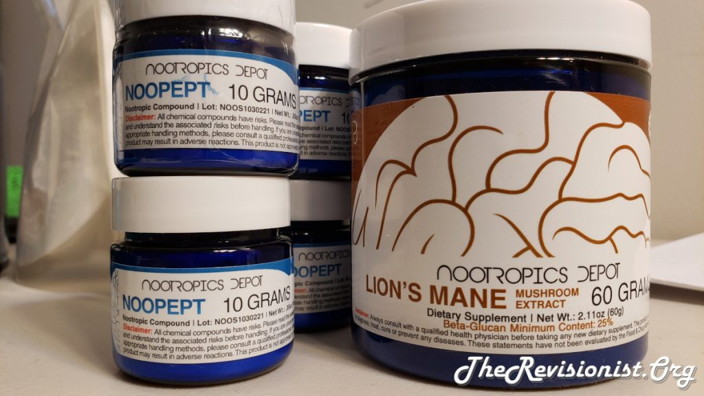 Noopept powder and Lion's Mane Powder Side by Side